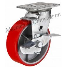 SCPB 42 Колесо большегрузное полиуретановое с тормозом 100 мм