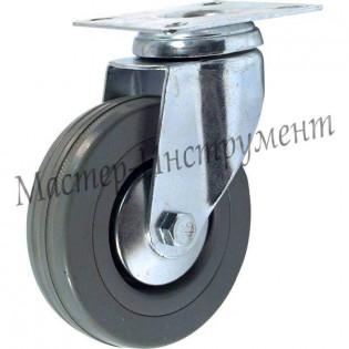 SCG 42 Колесо аппаратное серая резина поворотное 100 мм