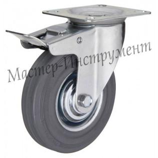 SCB 80 Колесо промышленное поворотное с тормозом 200мм