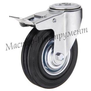 SCHB 42 Колесо промышленное под болт поворотное с тормозом 100 мм