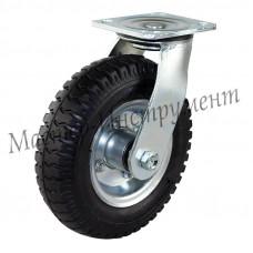 Колесо пневматическое с поворотной опорой 250 мм  (3.5-4)