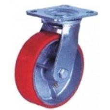 Колесная опора большегрузная поворотная (полиуретан) 200 мм
