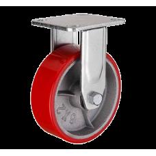 Колесная опора большегрузная неповоротная (полиуретан) 150 мм