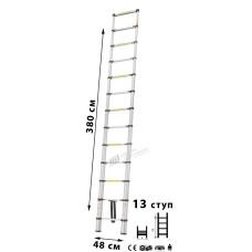 Лестница телескопическая МИ 3.8м 13ступ.