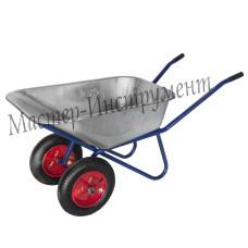 Тачка 110л Строительная (синяя) с колесами 3,25 D20