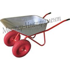 Тачка 110л Строительная МИ  (красная) с усиленными колесами 4.8 D20
