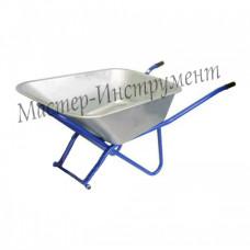 Тачка 110л Строительная (синяя) (без колес/двухколесная)