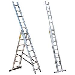 Лестница трехсекционная 3*10 ПРОФИ Мастер-инструмент