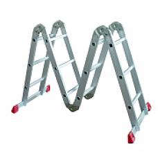 Лестница 4х3 трансформер МИ 12,0кг большой замок