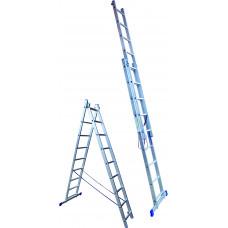 Алюминиевая лестница  6 ступеней двухсекционная (СТАНДАРТ)