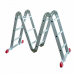 Алюминиевая лестница  4х6 трансформер МИ 19 кг большой замок