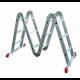 Алюминиевая лестница 4х5 трансформер МИ 17,1 кг большой замок