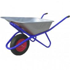 Тачка 100л Строительная (синяя) с колесом 4.80 D16/12