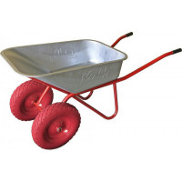 Тачка 110л МИ  (красная) с усиленными колесами 3.25 D20