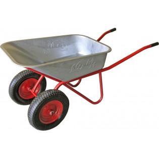 Тачка 110л Строительная МИ (красная) садовая с колесами 4.8 D20