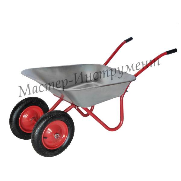 Тачка 85л Садовая МИ (красная) с колесами 3,25 D20