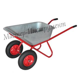 Тачка 110л Строительная МИ (красная) с колесами 4.8 D20