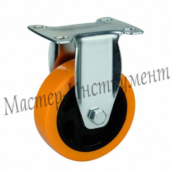 4021125 PVC Колесо большегрузное полиуретановое неповоротное (Medium) 125 мм
