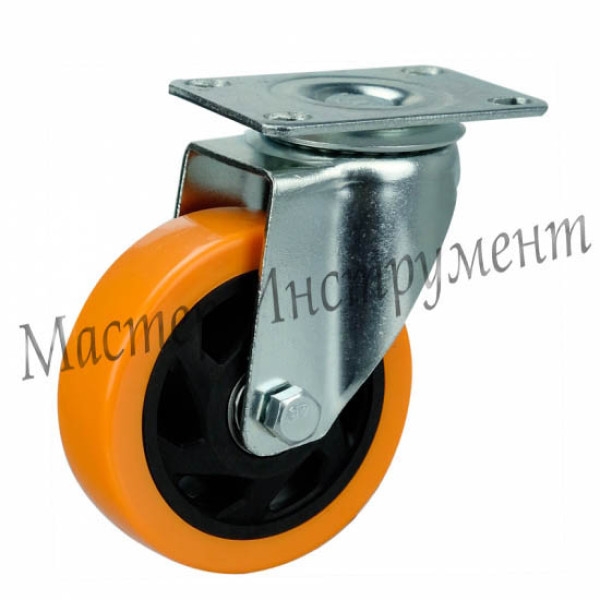 4022125 PVC  Колесо большегрузное полиуретановое поворотное (Medium) 125 мм
