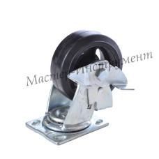 SCDB 42 Колесо большегрузное обрезиненное поворотное с тормозом 100мм