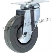 SCG 25 Колесо аппаратное серая резина поворотное 50 мм