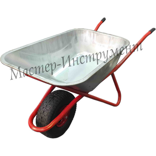 Тачка 110л Строительная  МИ STRONG  (красная) с колесом  6.00 D16/12 L135мм