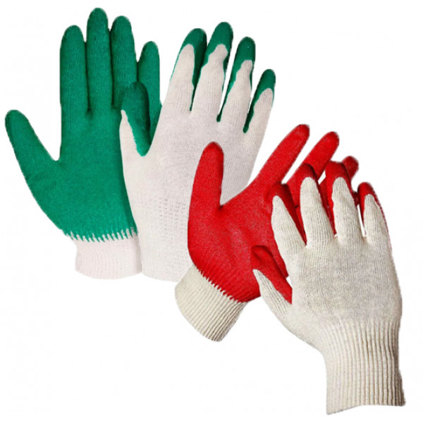 Перчатки х/б облив 13 класс