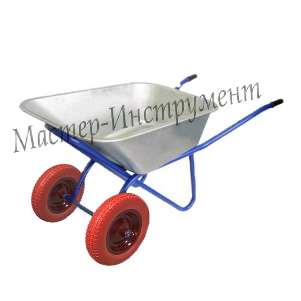 Тачка 110л Строительная (синяя) с усиленными колесами 3,25 D20