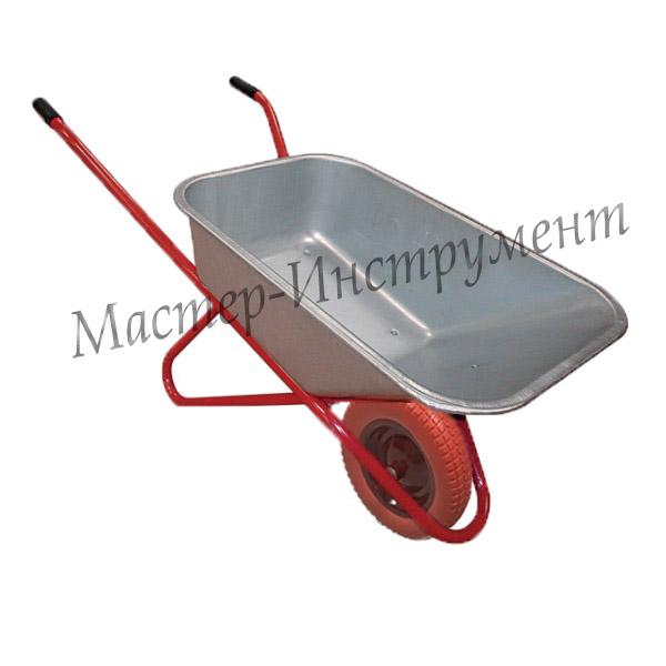 Тачка 110л Строительная МИ (красная) с усиленным колесом 3,25 D16/12