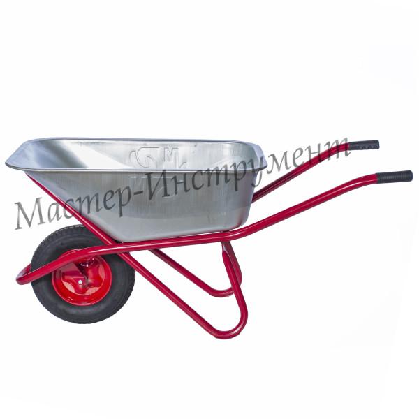 Тачка 110л Строительная  МИ   (красная) с колесом 4.8 D16/12