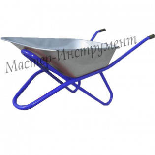 Тачка 110л Строительная (синяя) (без колес / одноколесная)