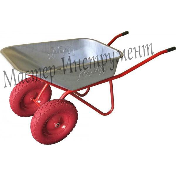 Тачка 110л Строительная МИ  (красная) с усиленными колесами 3.25 D20