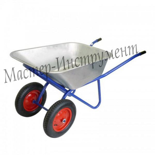 Тачка 100л Строительная (синяя) с колесами 3.25 D-20