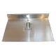 Лопата алюминиевая 1 борт 500х300мм х 1,5мм с накладкой 2см