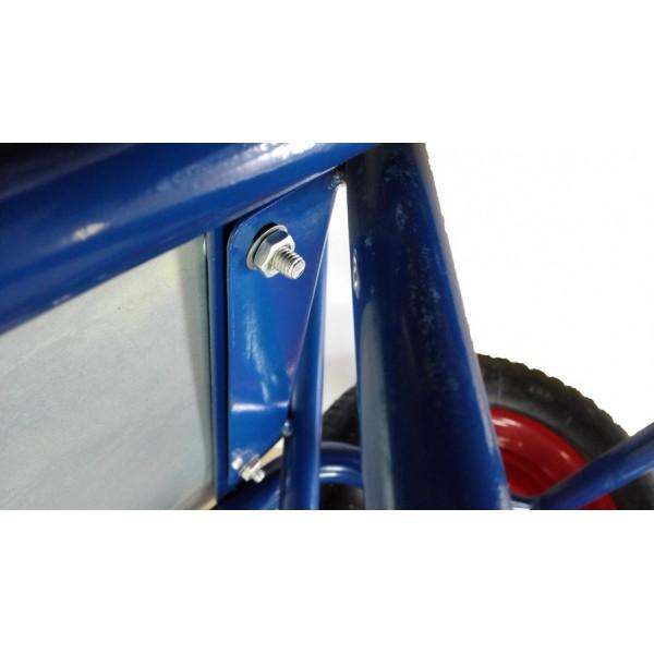 Тачка 100л Строительная (синяя) (без колес/двухколесная)