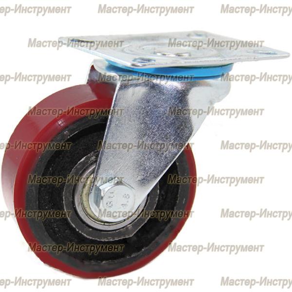Колесо промышленное полиуретановое поворотное ( Medium ) 75 мм