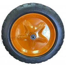 Полиуретановое  колесо 4.80/4.00х80 D-16 (сим.ступица) втулка-12