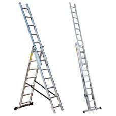 Лестница трехсекционная 3*8 ПРОФИ Мастер-инструмент