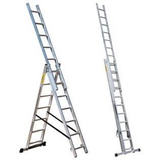 Лестница трехсекционная 3*12 ПРОФИ Мастер-инструмент