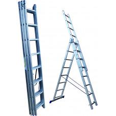 Лестница 17 ступеней трехсекционная (СТАНДАРТ)