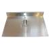 Лопата алюминиевая 1 борт 500х300мм х 1,5мм с накладкой 12см