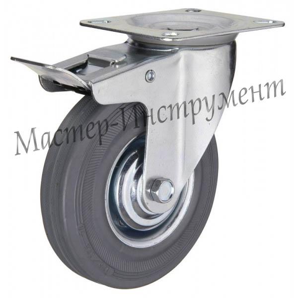 SCHB 63 Колесо промышленное под болт поворотное с тормозом 160мм