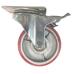 Колесо промышленное полиуретановое поворотное с тормозом ( Medium ) 125 мм