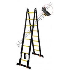 Лестница-стремянка телескопич. МИ ПРОФИ 1.6м/3.2м 5ступ