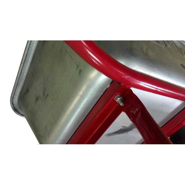 Тачка 110л Строительная МИ (красная) с усиленным колесом 4,8 D16/12