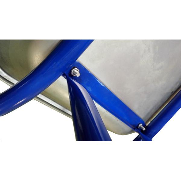 Тачка 110л Строительная (синяя) с колесом 4.80 D16/12