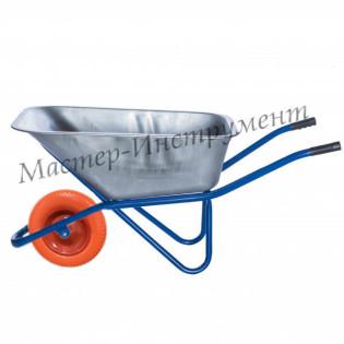 Тачка 110л Строительная (синяя) с усиленным колесом 3.25 D16/12