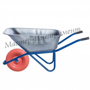 Тачка 110л Строительная (синяя) с усиленным колесом 4.80 D16/12